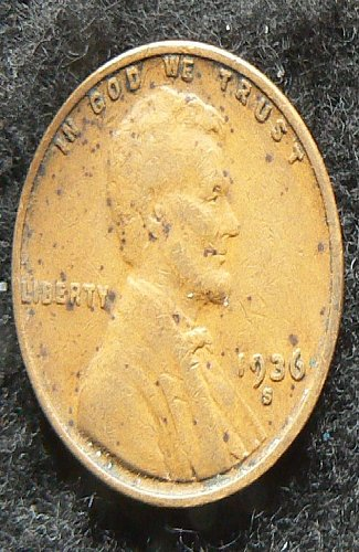 1936 S Lincoln Wheat Cent (F-12)