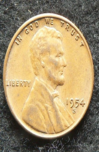 1954 S Lincoln Wheat Cent (VF-35)