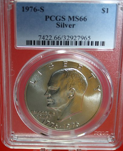 1976 S Eisenhower $1  < Silver 40% >