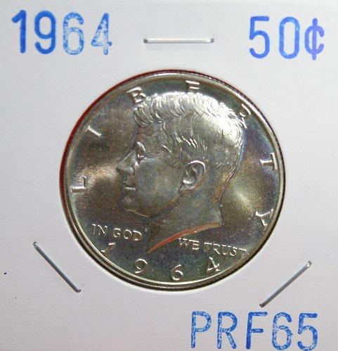 1964 Kennedy Half Dollar - Proof 65