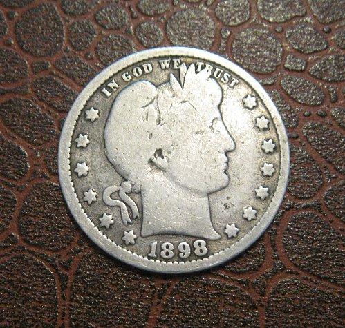 1898 Barber Quarter Dollar,