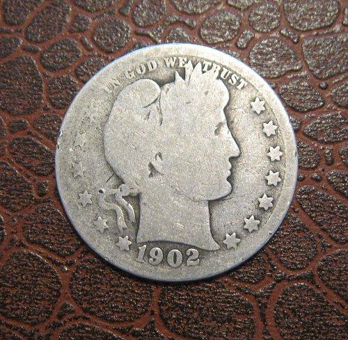 1902-P Barber Quarter Dollar,