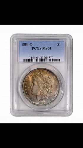 Beautifully toned 1884-O Morgan Dollar