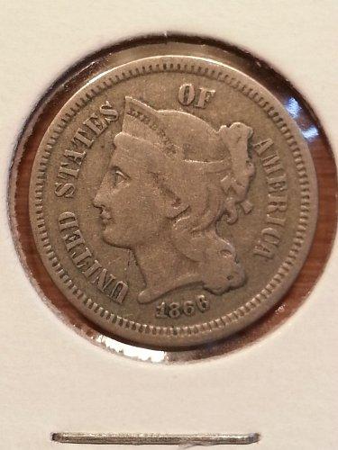 1866 Three Cent Piece