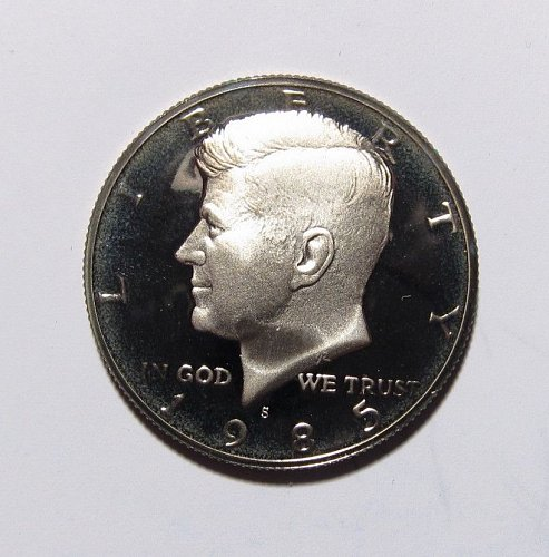 1985 S PROOF KENNEDY HALF DOLLAR