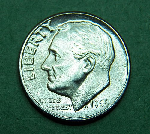 1948 D  Roosevelt Dime Brilliant Uncirculated Coin   g71