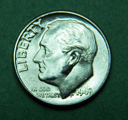 1949 D Roosevelt Dime Brilliant Uncirculated Coin   g72