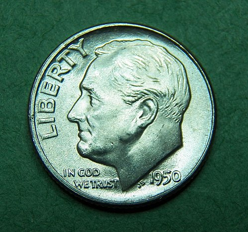 1950 P Roosevelt Dime Brilliant Uncirculated Coin   g73