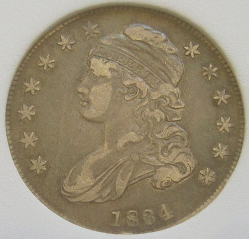 1834 Capped Bust Half  XF-45 - National Numismatic Certification - Attractive Co