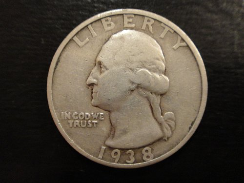 1938-S Washington Quarter Fine-15 with Minimal Marks!