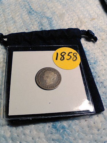 VERY NICE 1858 CANADIAN 5 CENT