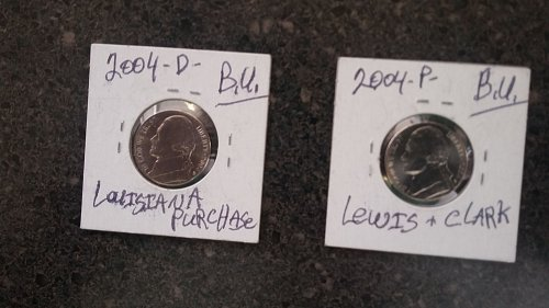 2 beautiful almost uncirculated Jefferson nickels