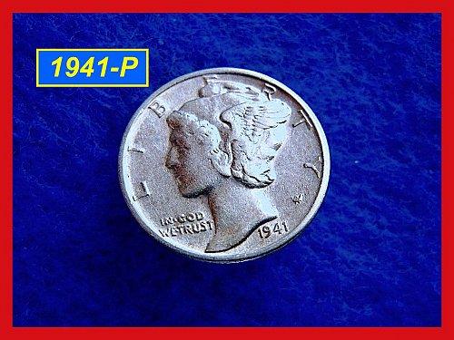 1941-P    Mercury Dime   🎯   (#3235)