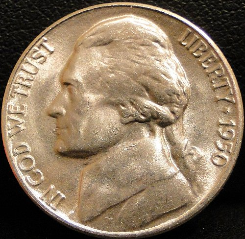 Nice Grade 1950-D Jefferson Nickel