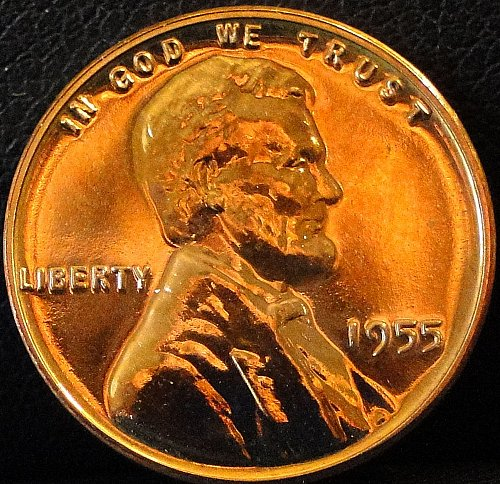 1955 Proof Lincoln Wheat Cent