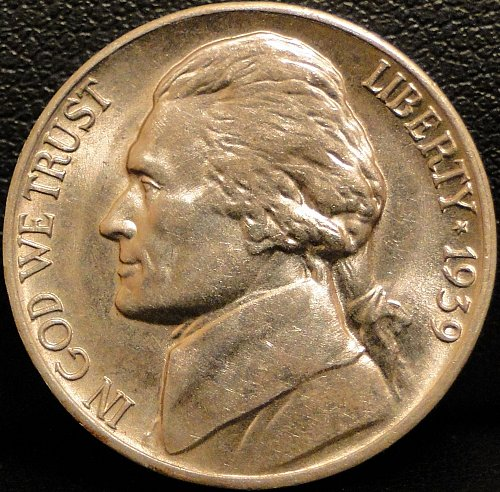 Nice Grade 1939-D Jefferson Nickel (Spot on obverse)