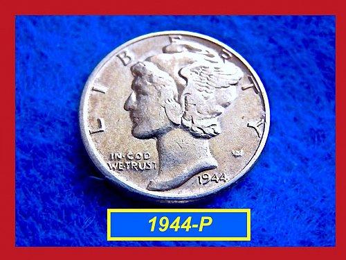 1944-P Mercury Dime   🎯   (#3244)