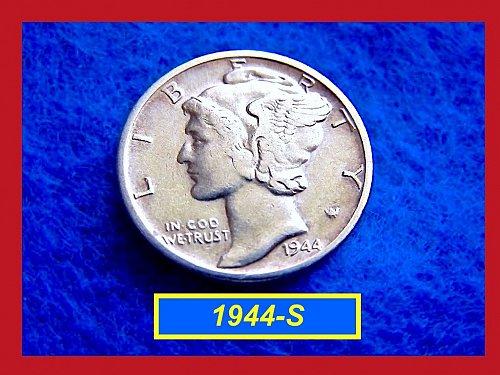 1944-S Mercury Dime   🎯   (#3246)