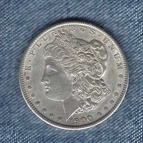 1900  Silver Morgan Dollar Nice Almost Uncirculated Coin.