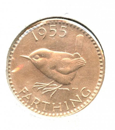 1955 British FarthingBU Bronze