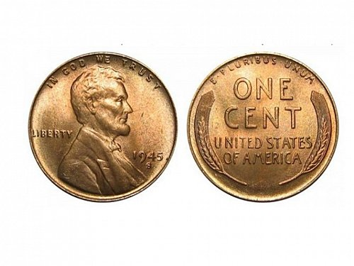 1945 S GEM BU Lincoln Cent