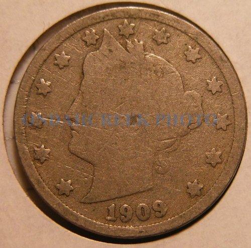 1909 Liberty Head V Nickel Good
