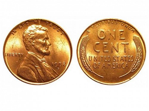 1952 D GEM BU Lincoln Cent