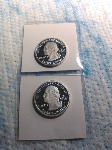 LOT OF TWO 2009-S PROOF SILVER QUARTERS
