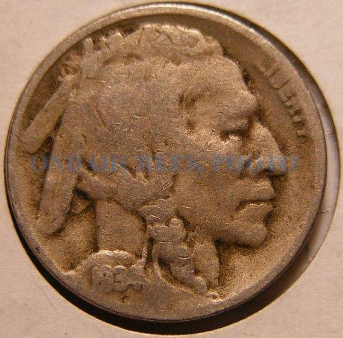 1934-D Buffalo Nickel VG