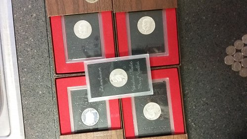 Silver Dollar's 1971 S Eisenhower Proofs  5 Total