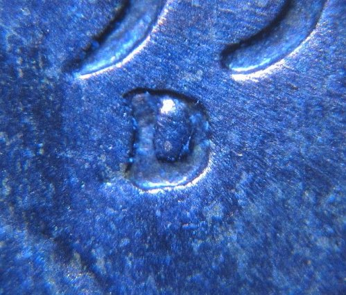 1953 D LINCOLN WHEAT CENT RPM 007  REPUNCHED MINT MARK ERROR