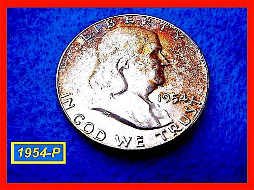 1954-P   Franklin Half Dollar –  Circulated Condition (#1390)