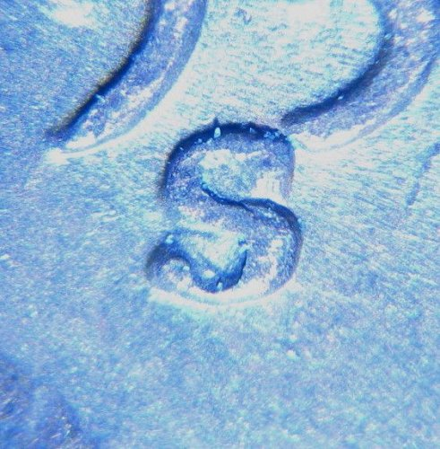 1953 S LINCOLN WHEAT CENT RPM 002  REPUNCHED MINT MARK ERROR