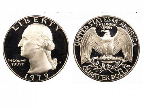 1979 S T1 Proof Washington Quarter
