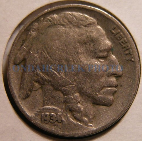 1934 Buffalo Nickel Fine