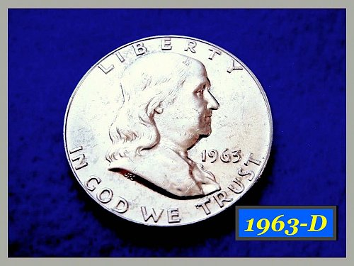 1963-D  Franklin Half Dollar ––– UNCIRCULATED (#1387)