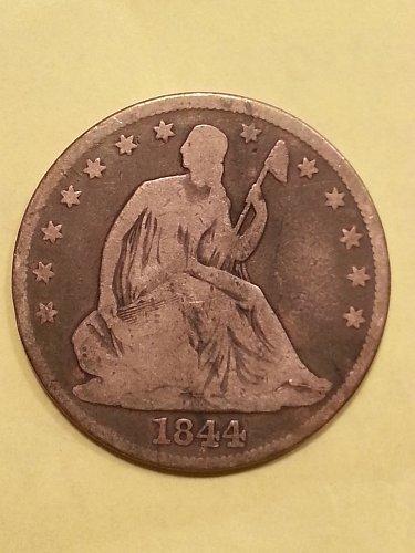 1844 Seated Liberty Half