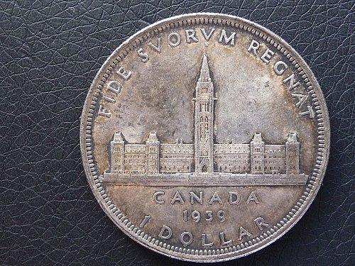 Canada    1939   One Dollar SILVER