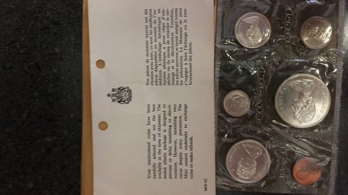 1965 Canadian silver mint set uncirculated