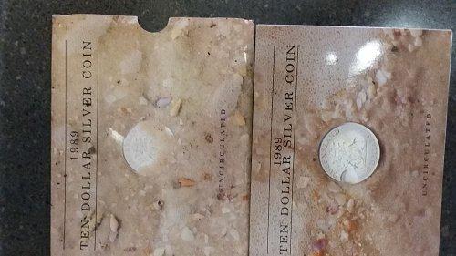 Australian uncirculated 10 dollar silver coin
