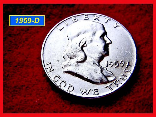 "1959-D  Franklin Half Dollar –  ""XF"" Circulated Condition (#1456)"