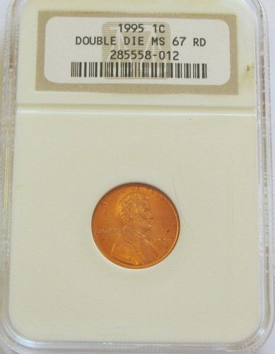 1995 Lincoln cent DDO Liberty NGCMS67 RED