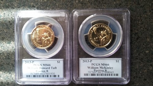 2 beautiful 2013 P presidential dollars ms coins