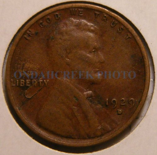 1929-D Lincoln Cent VF with lamination error