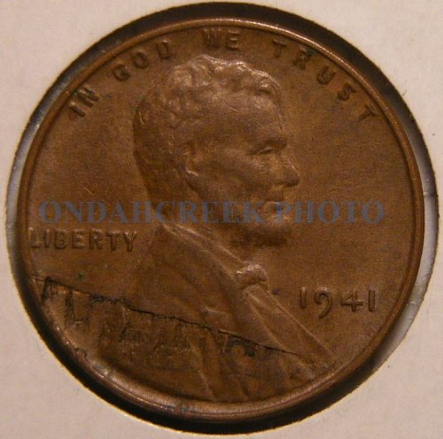 1941 Lincoln Cent AU with lamination error