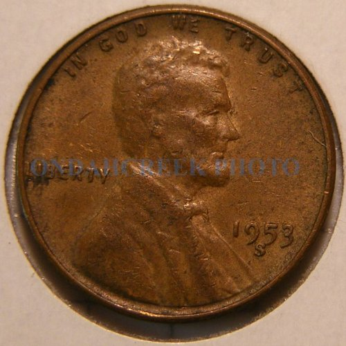 1953-S Lincoln Cent RPM #2 Very Fine Top 100