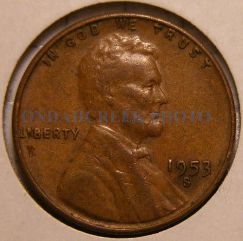 1953-S Lincoln Cent RPM #4 Fine