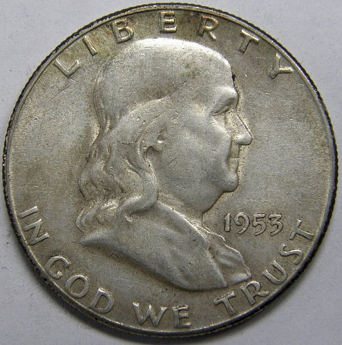 1953 S Franklin Half Dollar #5LE