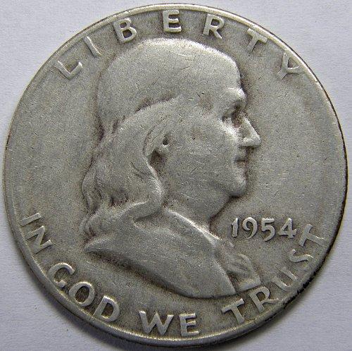 1954 S Franklin Half Dollar #5LE
