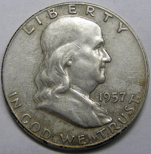 1957 P Franklin Half Dollar #5LE